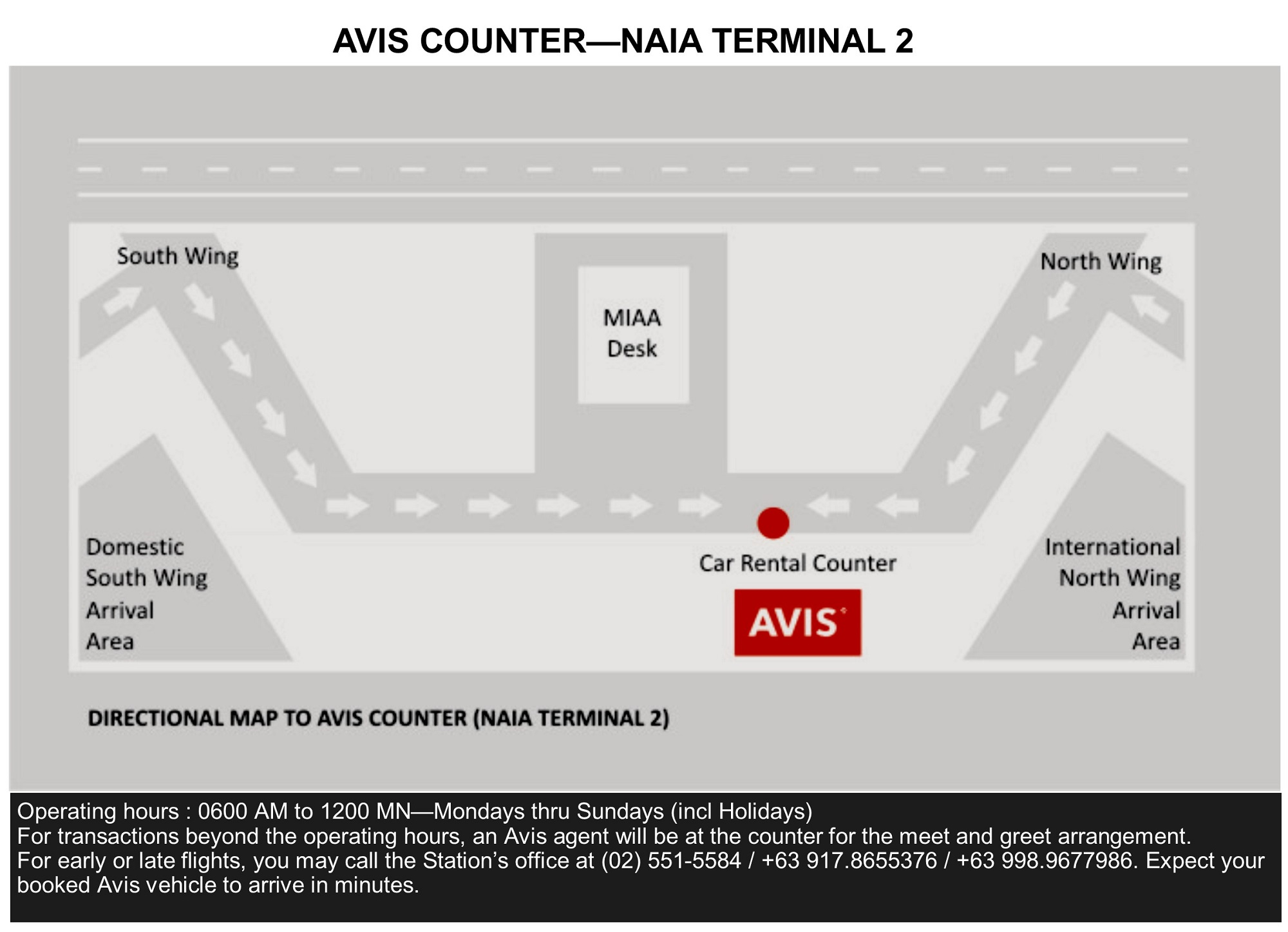 Avis Car Rental Naia Terminal 2 Rent A Car And Self Drive Philippines